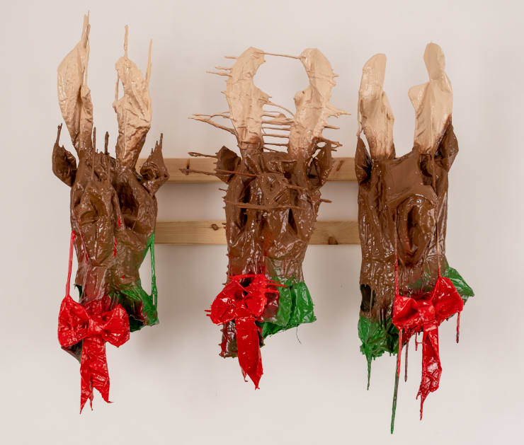 Corey Whyte All Three Corey Whyte Reindeers, 2019 Inflatable, resin, wood, enamel paint and lacquer 95 x 90 x 44 cm