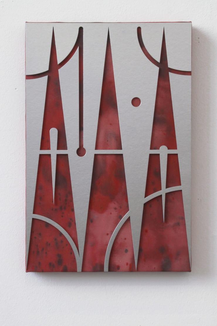 Gašper Kunšič Upward Tears, 2019 Paint, cardboard and artificial canvas on frame 60 x 40 cm