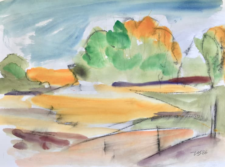 Landscape: Mixed Media on Paper