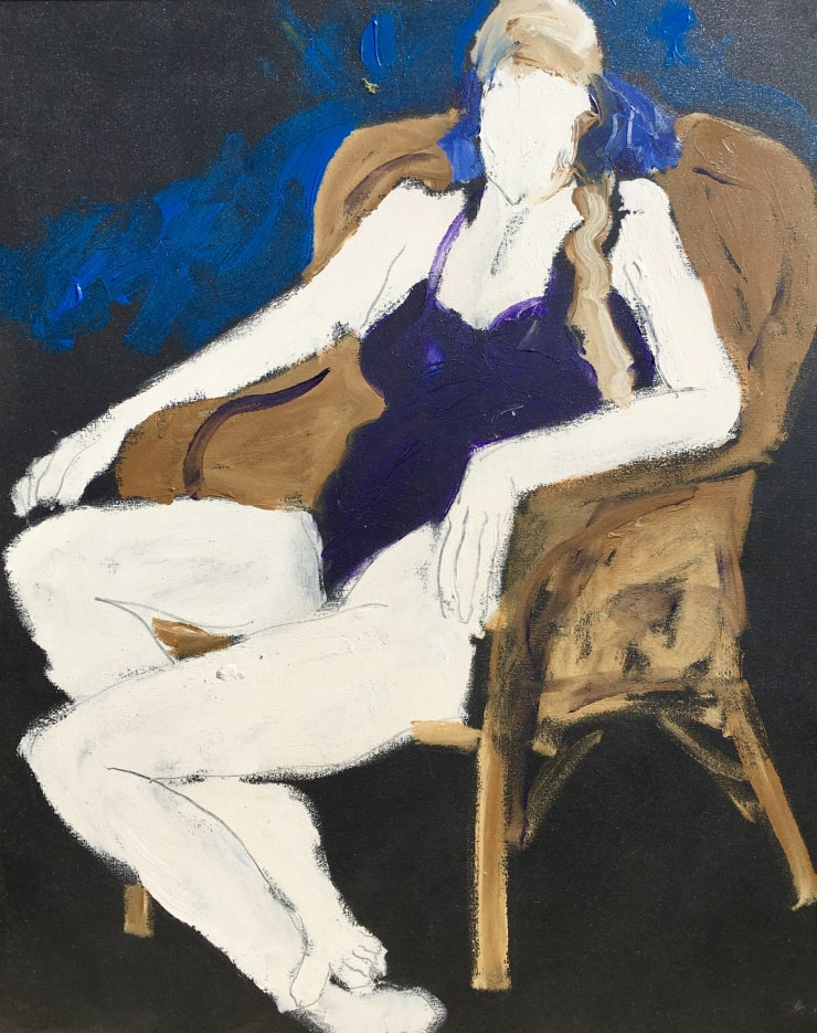 Freeman W. Butts Woman in a Chair, 1989 Acrylic on canvas 40 x 30 FWB 89, upper left