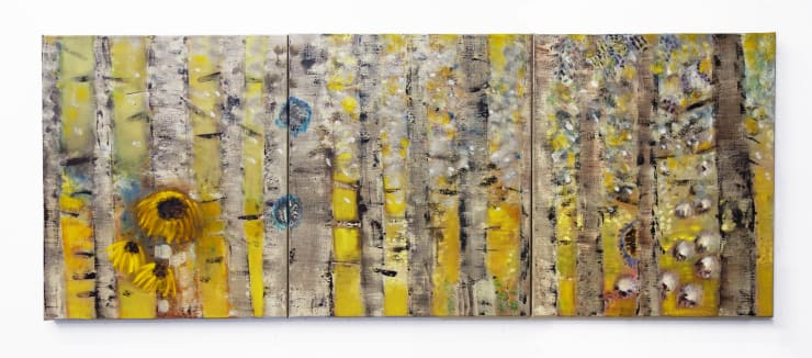 Diane Chappalley Feverish Forest, 2020 Oil on flax 70 x 180 cm 27 1/2 x 70 7/8 in