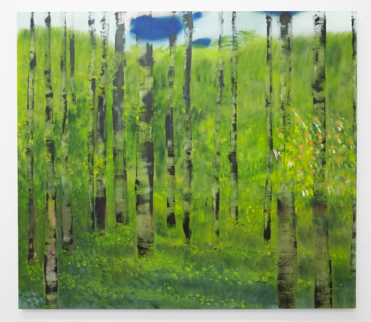 Diane Chappalley The Naked Trees, 2019 Oil on flax 140 x 160 cm 55 1/8 x 63 in