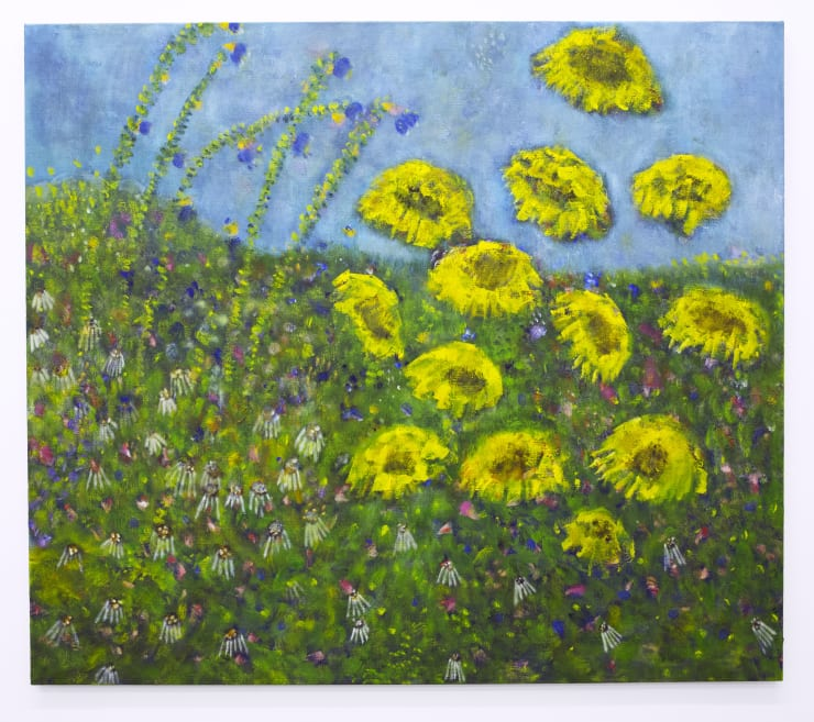 Diane Chappalley Sundrunk, 2020 Oil on flax 140 x 160 cm 55 1/8 x 63 in