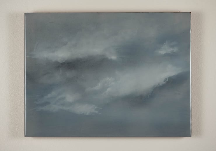 Todd McMillan Cloud Study LXVI, 2019 Watercolour on cotton watercolour paper on plywood, epoxy 28 x 38 cm 11 1/8 x 15 in