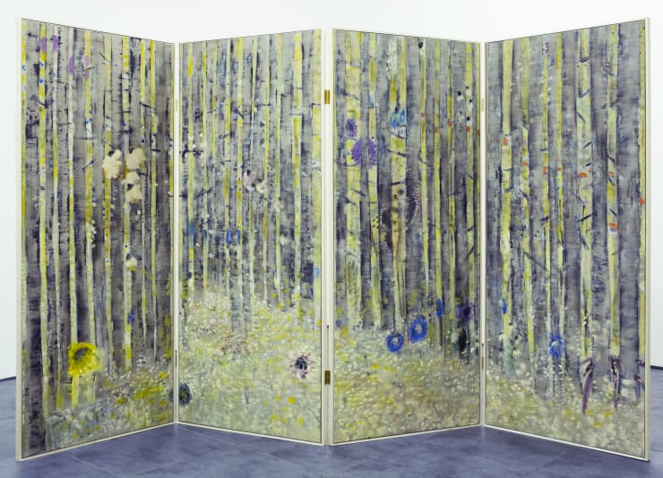 Diane Chappalley Behind Closed Doors, 2019 Canvas, artist-made frame 4 panels 190 x 80 cm 74 3/4 x 31 1/2 in each