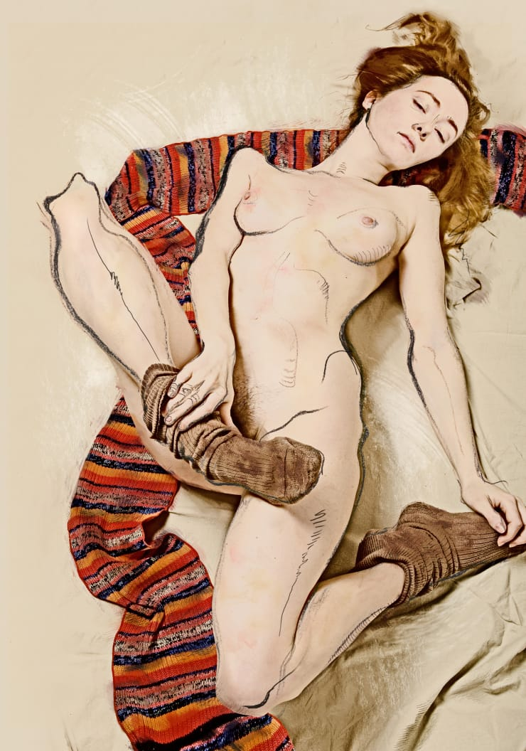 Katerina Belkina For Schiele, 2007 Archival Pigment Print 40 x 28 cm 15 3/4 x 11 1/8 in Edition of 15 plus 2 artist's proofs Series: Paint