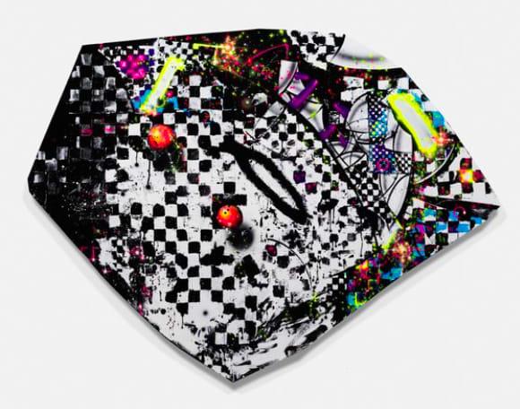 Aaron Curry Brickobrackattack, 2016 Acrylic gouache on canvas 63 1/8 x 84 3/8 x 1 1/2 in 160.3 x 214.3 x 3.8 cm