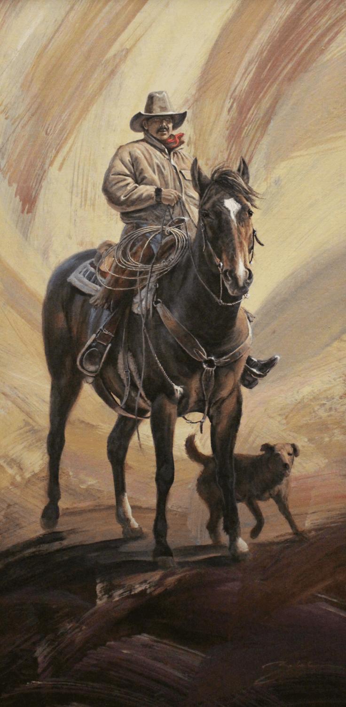 Larry Zabel, MONTANA COWBOY