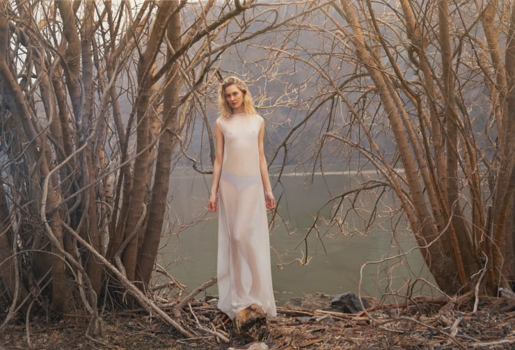 Yigal Ozeri Untitled; Annika, 2019 Oil on canvas 137 x 203 cm 54 x 80 in