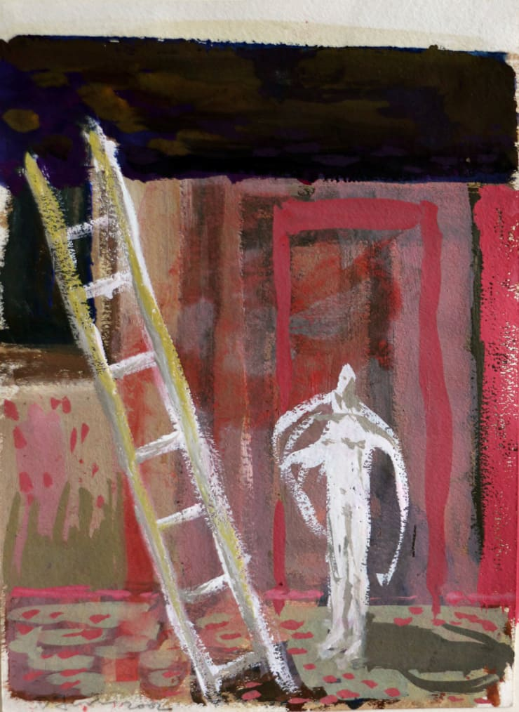 Davina Jackson Jacob's Dream, 2018 Gouache on paper 19 x 14 cm 7.5 x 5.5 in