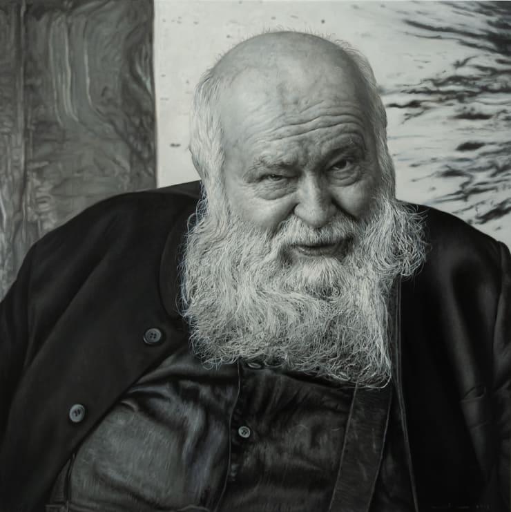 Yigal Ozeri Hermann Nitsch, 2019 Oil on canvas 127 x 127 cm 50 x 50 in