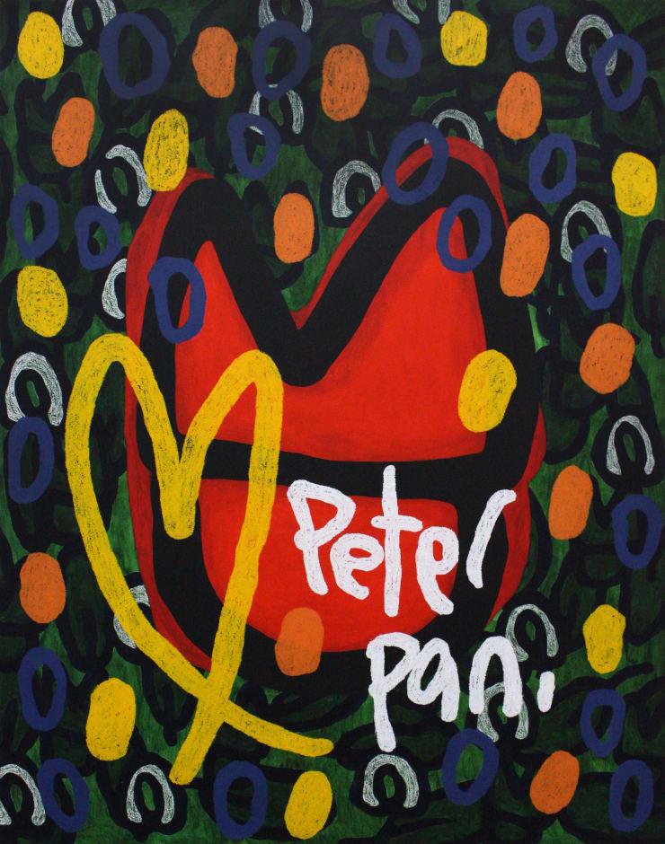 JIHI Peter Pan, 2019 Oil on panel 117 x 91 cm 46 x 36 in