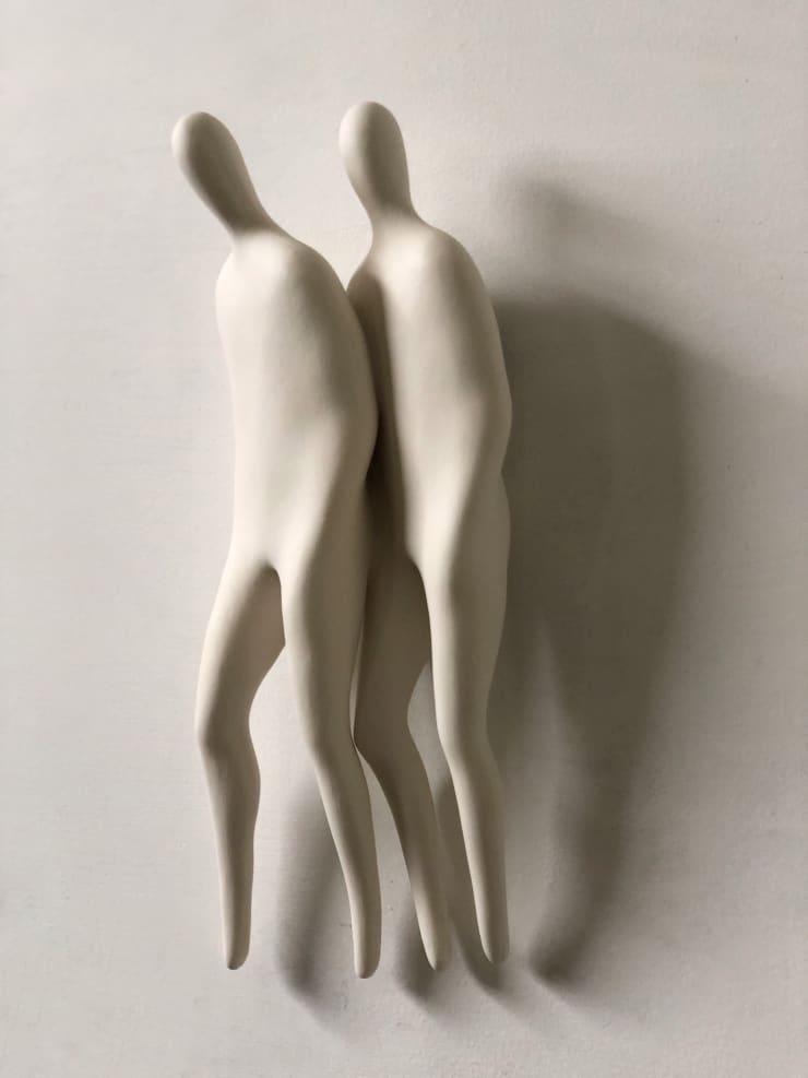 Emil Alzamora Firn Series (Close Wall), 2019 Cast porcelain 36 x 14 x 8 cm 14 x 5.5 x 3.3 in
