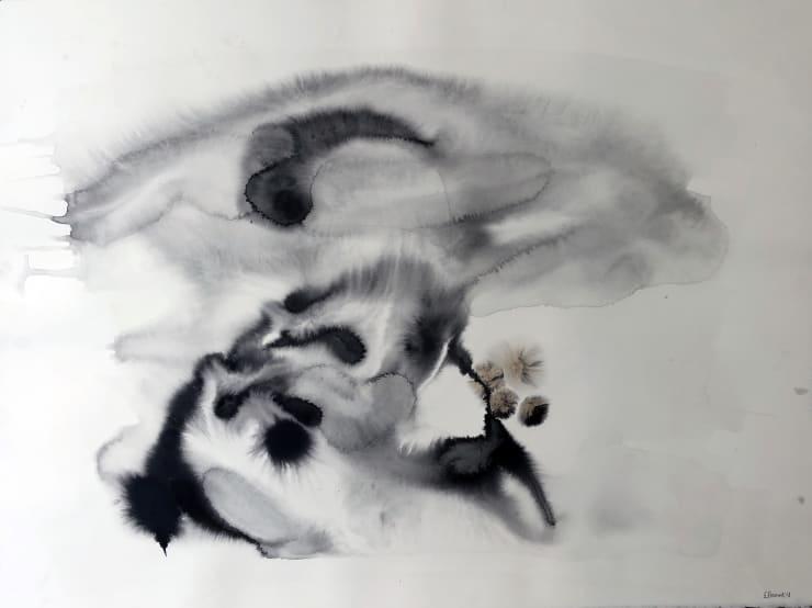 Emil Alzamora Turbulence Series No. 12, 2019 Ink on paper 57 x 76 cm 22.5 x 30 in