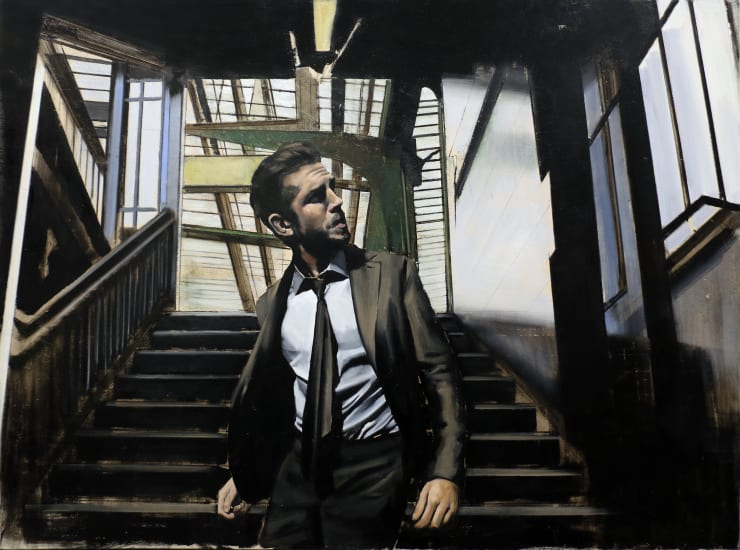 Christopher Thompson Station, 2020 Oil on canvas 120 x 160 cm 47.2 x 63 in