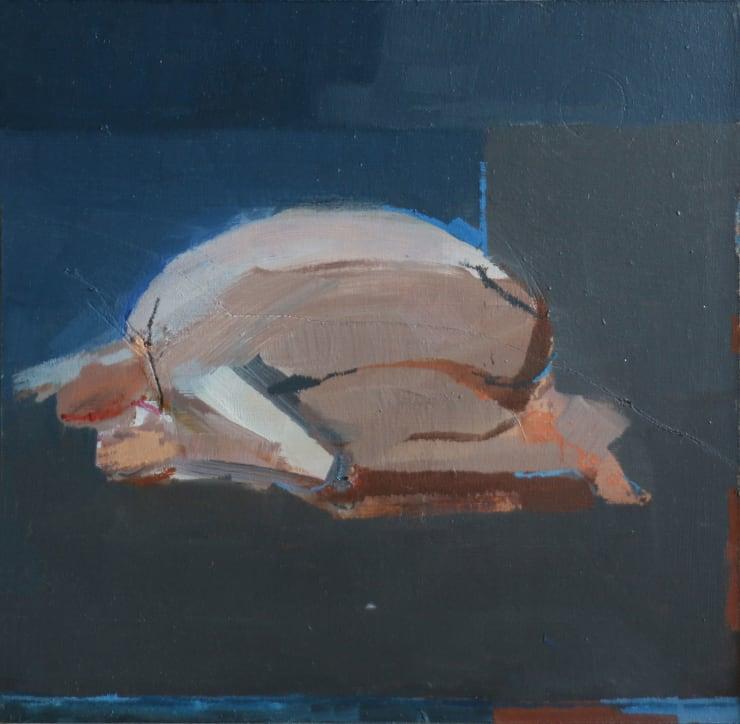 Davina Jackson Crouching Man, 2018 Oil on canvas 28 x 28 cm 11.1 x 11.1 in