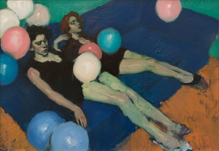 Malcolm Liepke Party's Over, 2017 Oil on canvas 53 x 76 cm 21 x 30 in