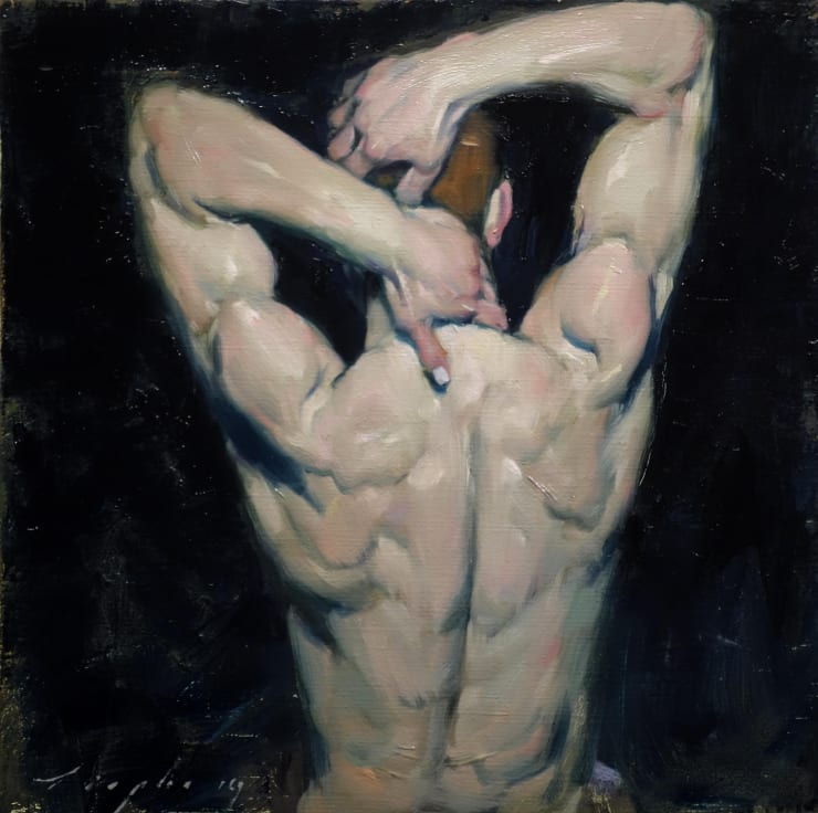 Malcolm Liepke Man's Back, 2019 Oil on canvas 30.5 x 30.5 cm 12 x 12 in