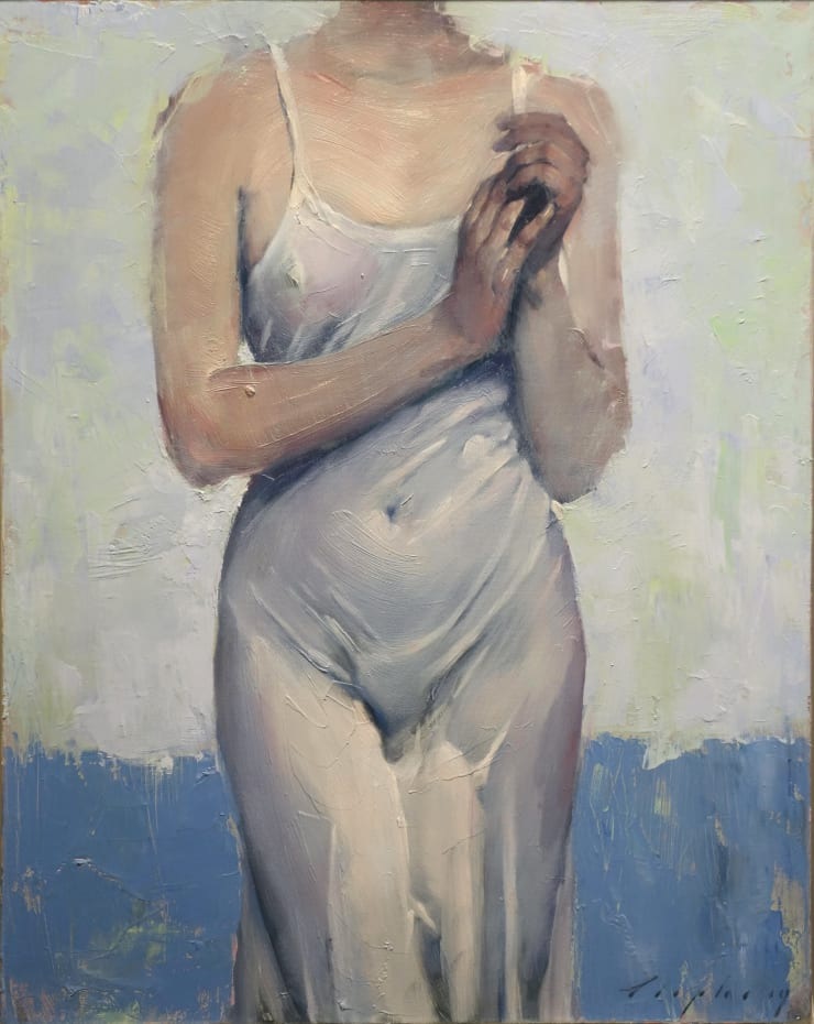 Malcolm Liepke Clinging Slip, 2019 Oil on canvas 50.8 x 40.6 cm 20 x 16 in