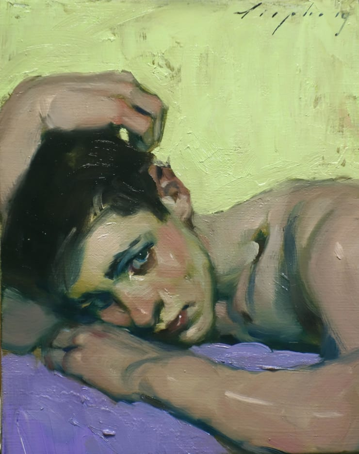 Malcolm Liepke Young Man, 2019 Oil on canvas 25.4 x 20.3 cm 10 x 8 in