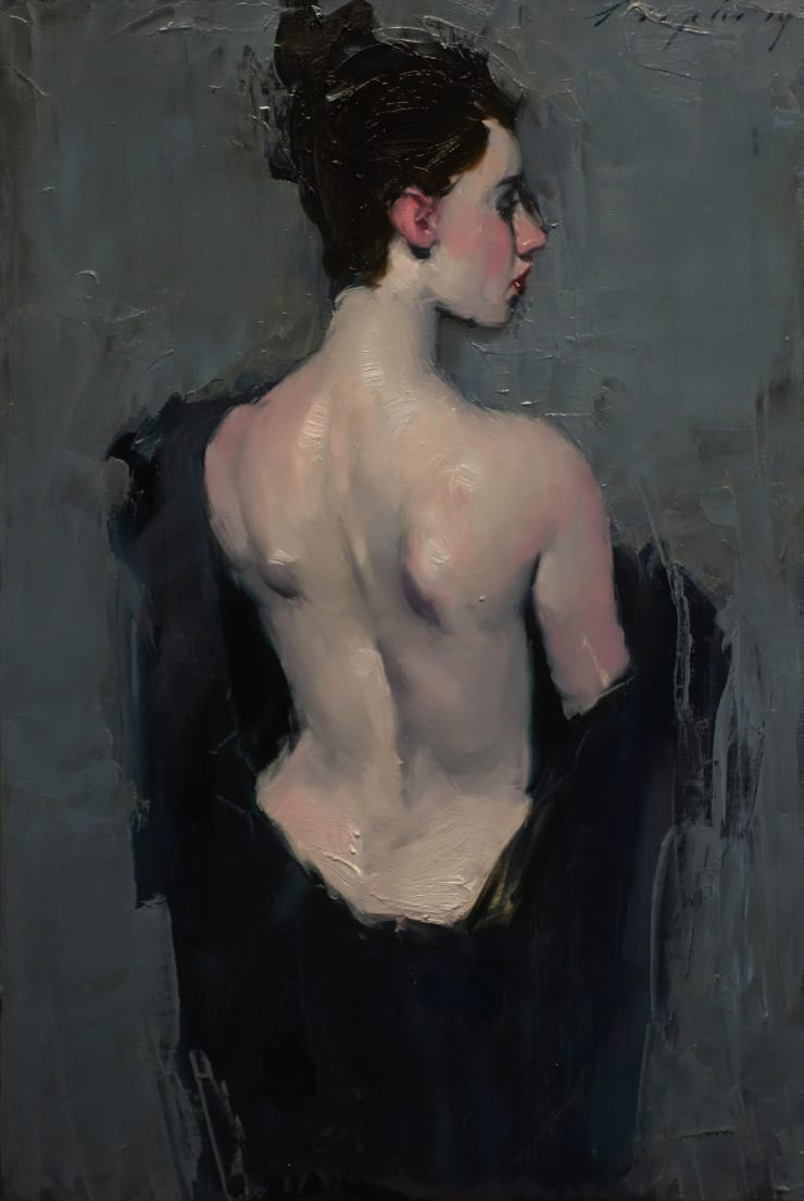 Malcolm Liepke Nude Back, 2018 Oil on canvas 45.7 x 30.5 cm 18 x 12 in