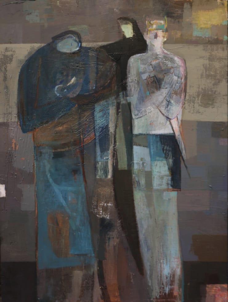 Davina Jackson The Judgement of Solomon, 2019 Oil on canvas 120 x 90 cm 47.2 x 35.4 in