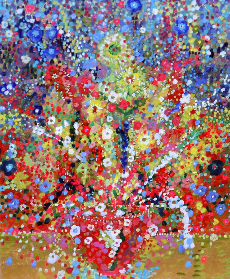 Fabio Bianco Girasoli, 2018 Oil and gold leaf on canvas 120 x 100 cm 47 x 39 cm