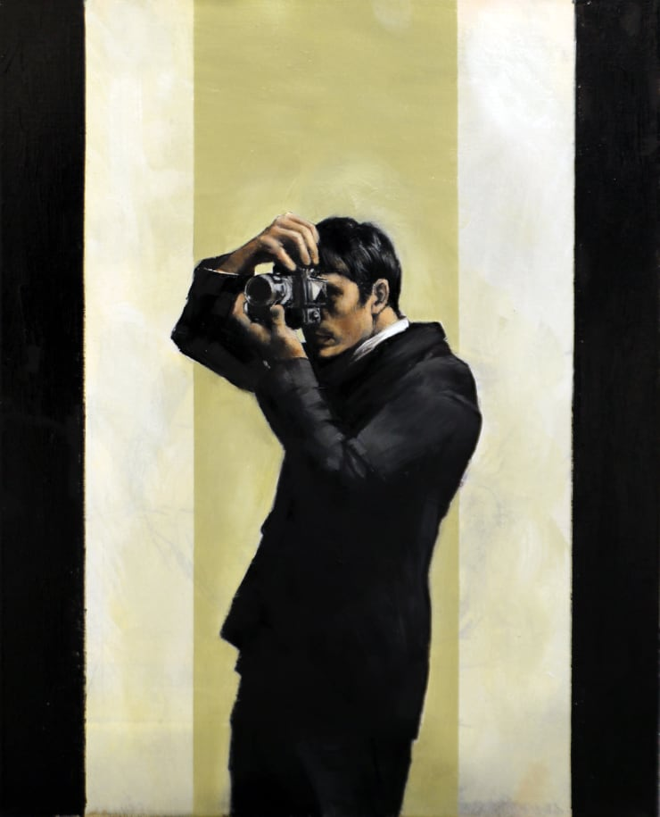 Christopher Thompson Photographer , 2020 Oil on canvas 45.5 x 35.5 cm 17.9 x 14 in