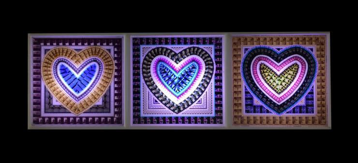 Kim Bumsu LOVE, 2016 Movie Film, Acrylic, LED 50 x 90 x 10 cm 19.5 x 35.5 x 4 in