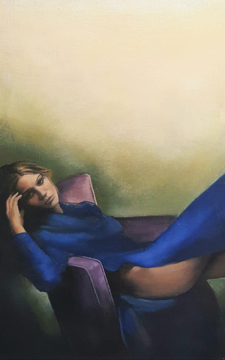 Christopher Thompson Seated Figure, 2019 Oil on canvas 56 x 36 cm 22 x 14 in