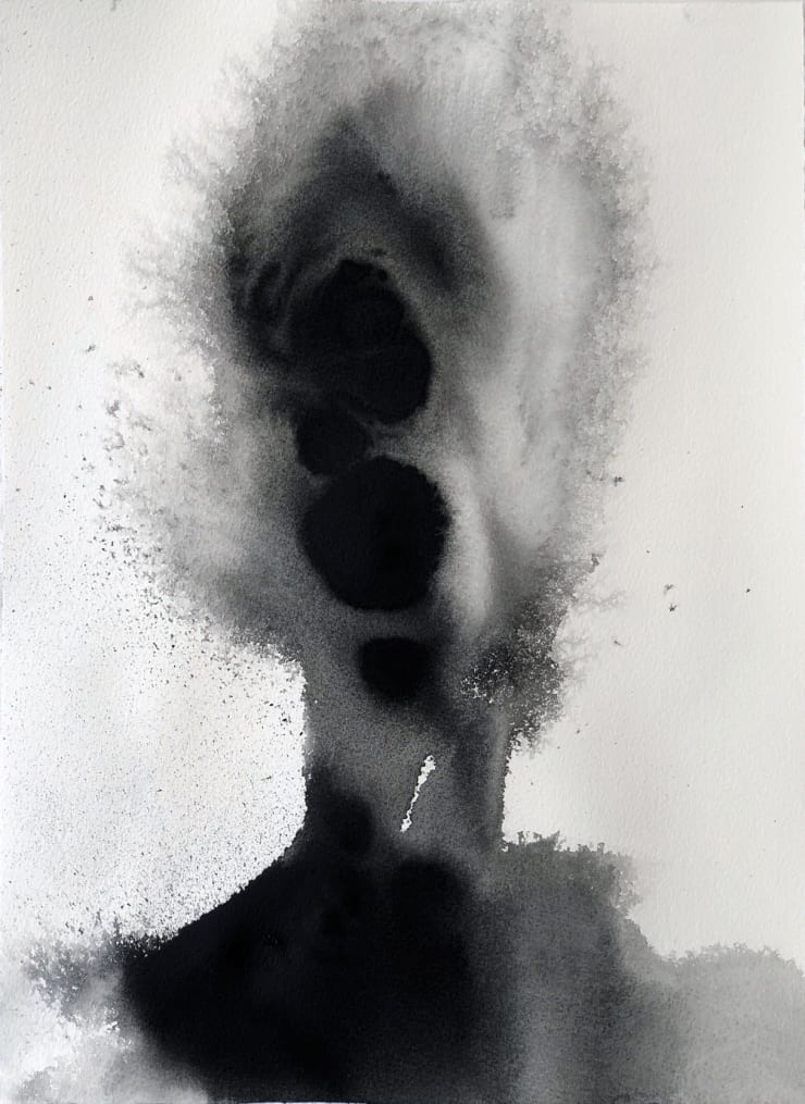Emil Alzamora Turbulence Series No. 5, 2019 India ink on archival paper 38 x 28 cm 15 x 11.1 in