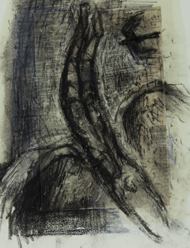 Davina Jackson Icarus Falling IV, 2018 Pencil, conte and charcoal on paper 24 x 19 cm 9.5 x 7.5 in