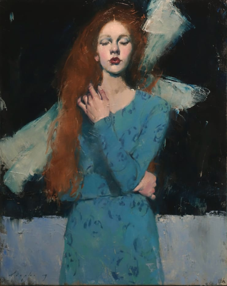 Malcolm Liepke Angel, 2019 Oil on canvas 76.2 x 61 cm 30 x 24 in