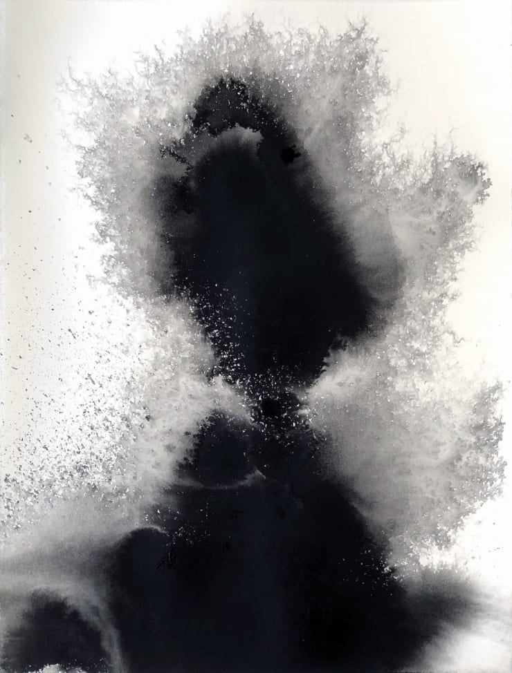 Emil Alzamora Turbulence Series No. 4, 2019 India ink on archival paper 38 x 28 cm 15 x 11.1 in