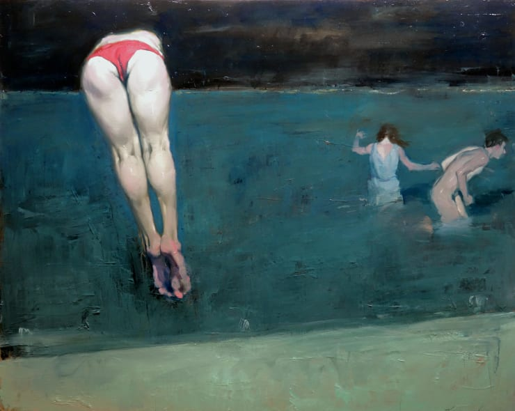 Malcolm Liepke Dive Into the Abyss, 2019 Oil on canvas 122 x 152 cm 48 x 60 in