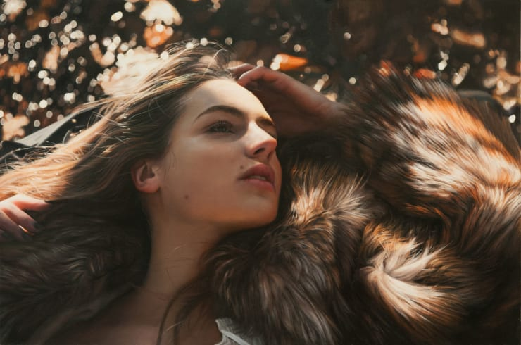 Yigal Ozeri Untitled; Zuzanna, 2013 Oil on paper mounted on wood 30.5 x 45.7 cm 12 x 18 in