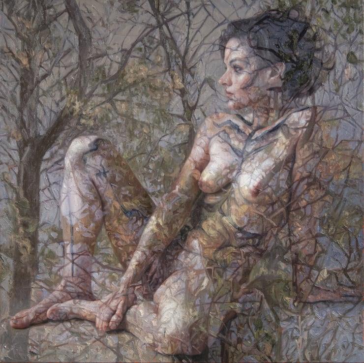 Alyssa Monks Rima, 2017 Oil on linen 86 x 86 cm 34 x 34 in