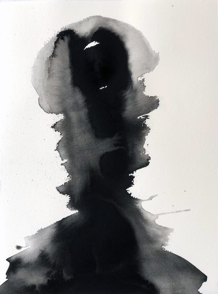 Emil Alzamora Turbulence Series No. 2, 2019 India ink on archival paper 38 x 28 cm 15 x 11 1/8 in