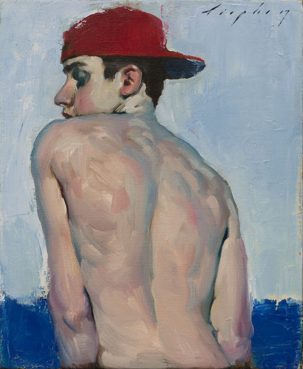 Malcolm Liepke Red Hat, 2017 Oil on canvas 28 x 23 cm 11 x 9 in