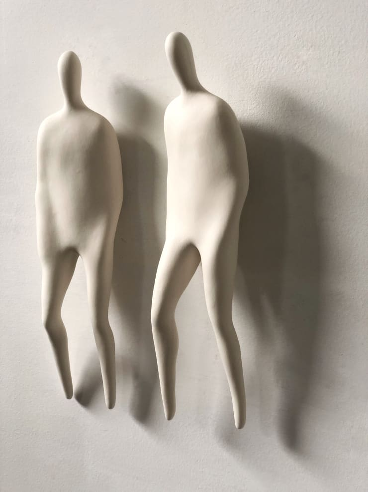 Emil Alzamora Firn Series (Unattached) , 2019 Cast porcelain 36 x variable x 8 cm 14 x variable x 3 in