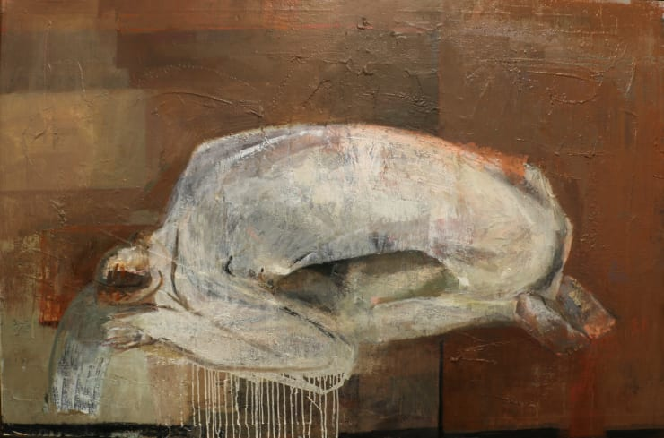Davina Jackson Narcissus, 2019 Oil on canvas 100 x 160 cm 39.4 x 63 in