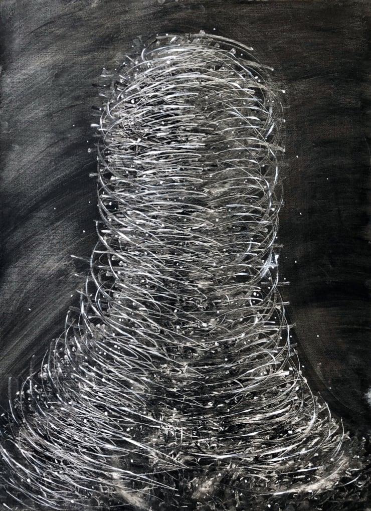 Emil Alzamora Energy Series No. 1, 2019 Acrylic on paper 76 x 57 cm 30 x 22.5 in