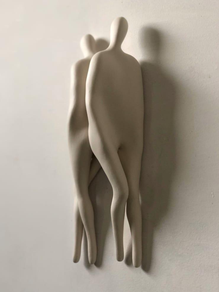 Emil Alzamora Firn Series (Back to Back), 2019 Cast porcelain 36 x 13 x 8 cm 14 x 5 x 3 in