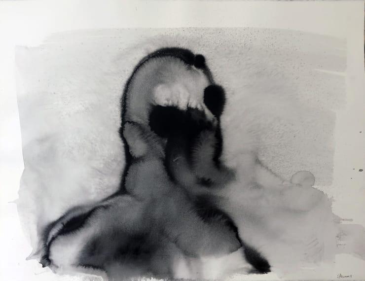 Emil Alzamora Turbulence Series No. 13, 2019 Ink on paper 57 x 76 cm 22.5 x 30 in