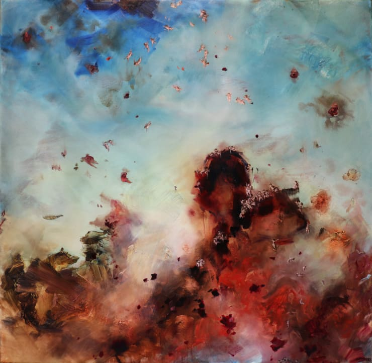 Chris Rivers Heart Torn, 2019 Oil on canvas 150 x 150 cm 59 x 59 in