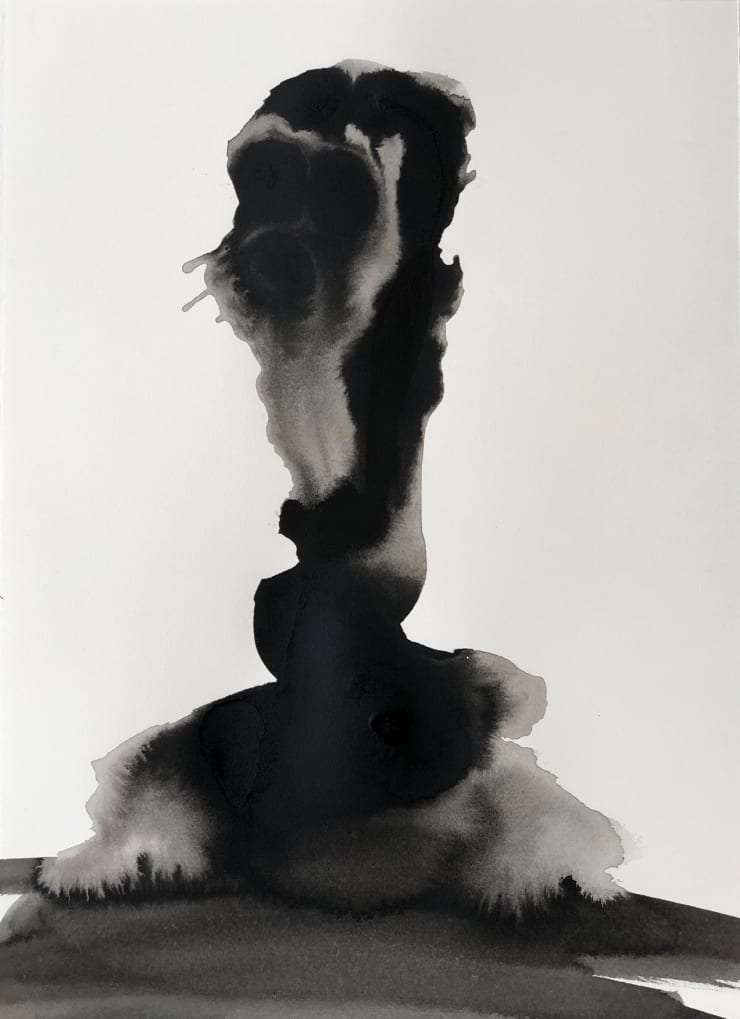 Emil Alzamora Turbulence Series No. 6, 2019 India ink on archival paper 38 x 28 cm 15 x 11.1 in
