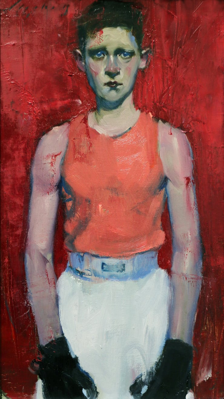 Malcolm Liepke Young Boxer, 2018 Oil on canvas 35.6 x 20.3 cm 14 x 8 in