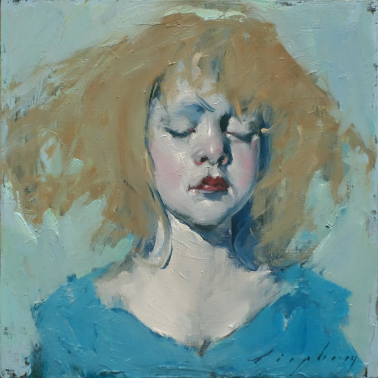 Malcolm Liepke Little Girl Blue, 2019 Oil on canvas 20.3 x 20.3 cm 8 x 8 in