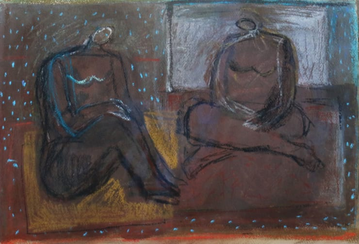 Davina Jackson The Conversation, 2017 Charcoal, conte and crayon on paper 38 x 55 cm 15 x 21.6 in