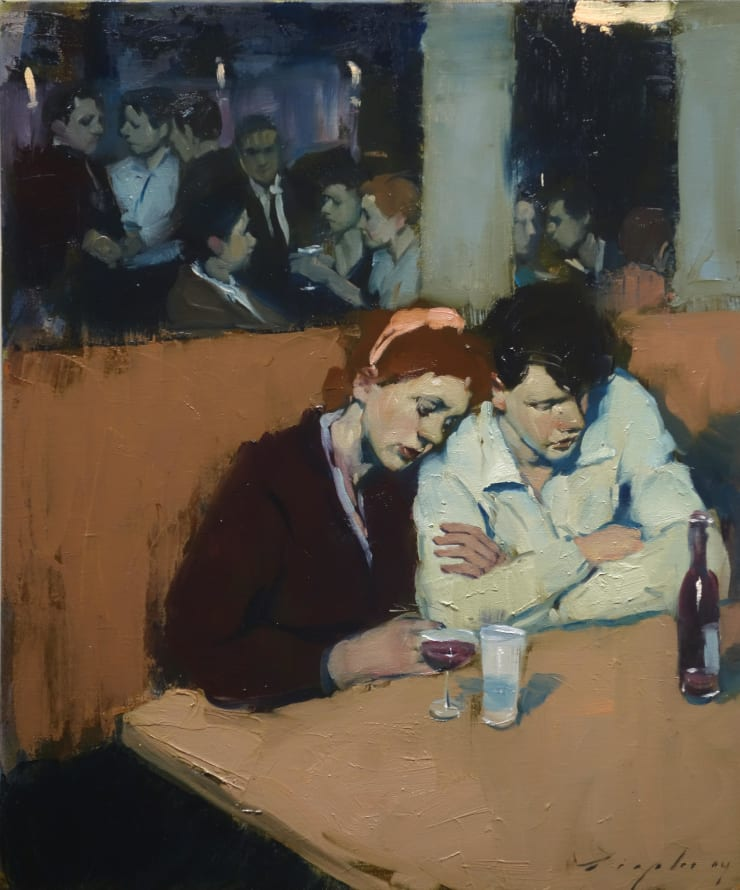Malcolm Liepke Together, 2019 Oil on canvas 50.8 x 61 cm 20 x 24 in